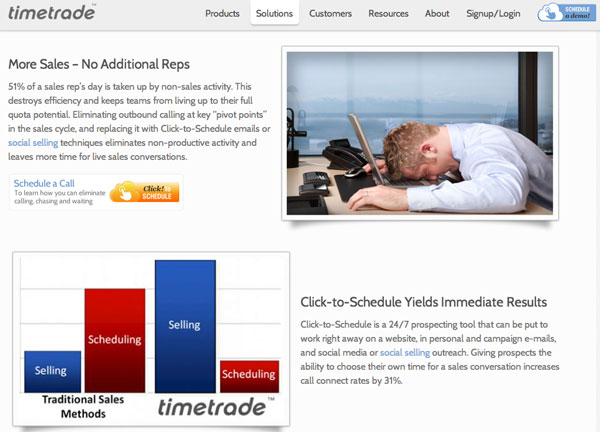 TimeTrade Click To Schedule Sales Presentation Appointment Setting Application